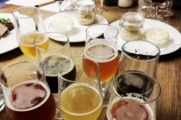 Beer Tasting at a Local Microbrewery